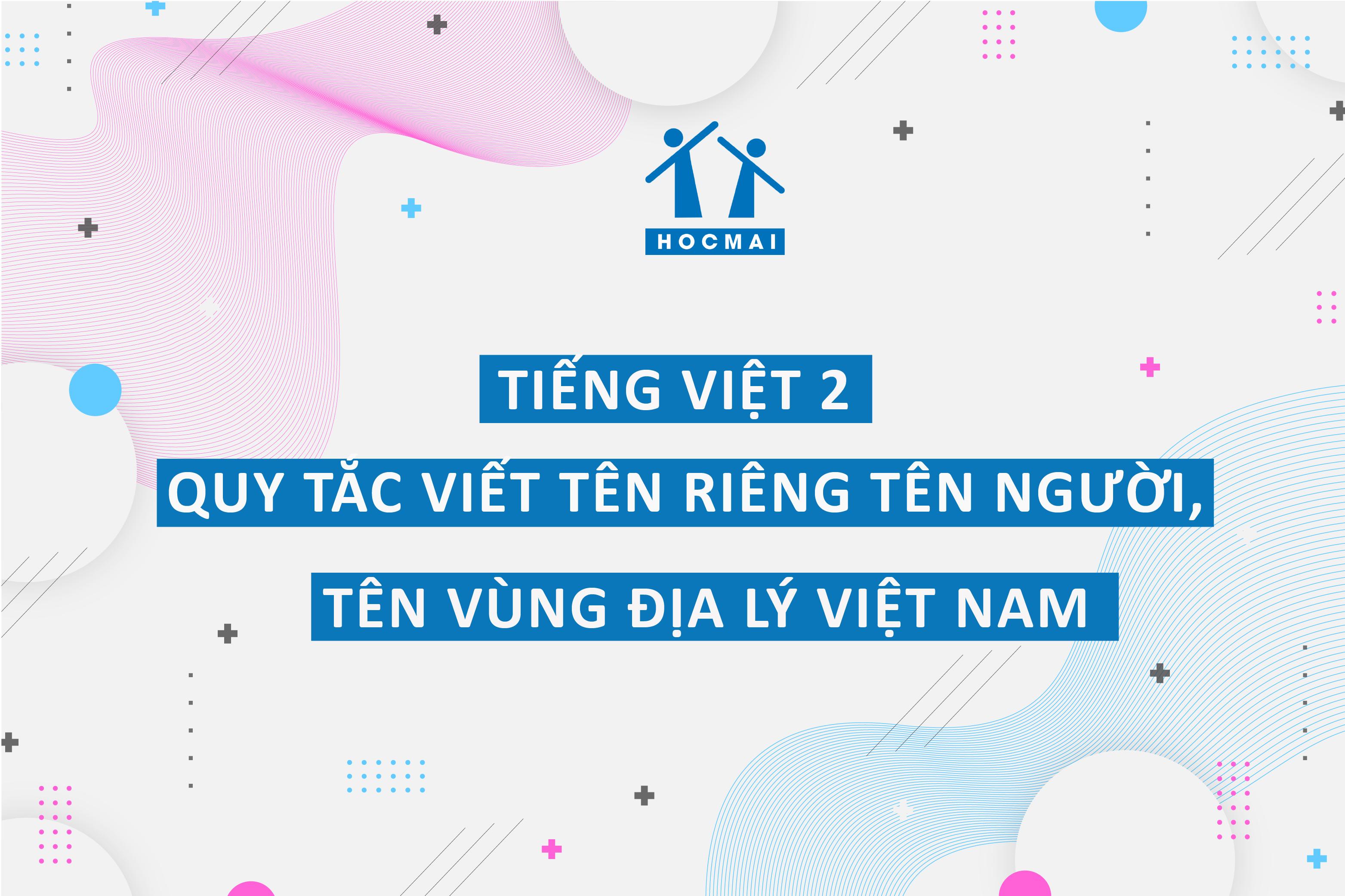 Tài liệu 2: Quy tắc viết tên riêng người Việt, tên riêng địa lí Việt Nam